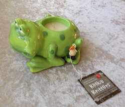 Russ Berrie Kookie Kritters Ceramic Frog Votive Candle & Holder By Doug Harris - $18.39