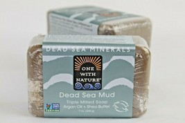 Dead Sea Mud Triple Milled Soap One with Nature Dead Sea Mineral 7 Oz Ba... - $18.80