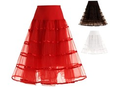 Cheap A Line Girls Petticoats With 2 Layers Tulle Red Tutu Skits For Women 2019 - $25.33