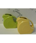 2 Fiesta Mini Disc Pitchers Lemongrass and Sunflower EUC - $22.00