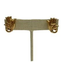 Avon Spring Tulip Pierced Earrings Vintage Gold Tone Flower Floral - $14.80