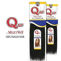 """2-PACK DEALS ! Human Hair Weave Milky Way Que Yaky Que 12"""", 1 image 3"""