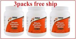 3packs Now Foods, Whole Psyllium Husks, 12 oz  - $26.68