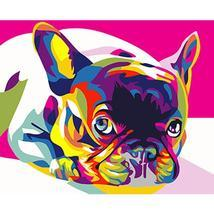 Colorful Dog Framed Pictures DIY Painting By Numbers DIY Oil Painting On... - $88,38 MXN+