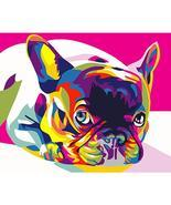 Colorful Dog Framed Pictures DIY Painting By Numbers DIY Oil Painting On... - $5.59 CAD+