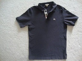 brown burberry polo shirt
