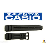 CASIO AD-300 Original 19mm Black Rubber Watch Band Strap AD-300B DW-290 ... - $14.35