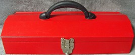 """Heavy Gage Steel•Red•Textured•16""""•Hip Roof•Lockable•Toolbox•16""""Lx6""""Wx4"""" ... - $26.99"""
