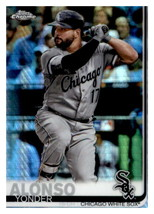 2019 Topps Chrome Prism Refractor #102 Yonder Alonso White Sox - $1.25