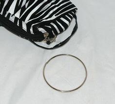 Natalie Brand 404MZE Black White Zebra Striped Clutch Removable Shoulder Strap image 5