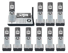 AT&T CLP99486 10 Cordless Phones w/Bluetooth Connect to Cell & Answering Machine - $294.65