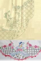 2* Southern Belle crochet trim pillowcase embroidery pattern LW952  - $5.00