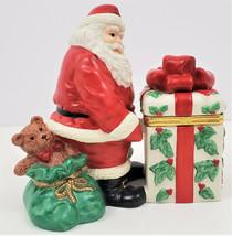 PartyLite Jolly Santa Votive Christmas Candle Holder Original Box - $27.84