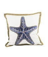 "Fennco Styles Home Dcor Sea-inspired Space Decorative Throw Pillow -20"" ... - £33.55 GBP"