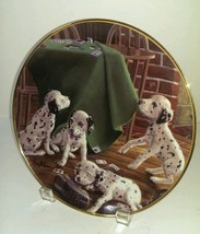 Adorable Dalmatian Plate FOUR OF A KIND Franklin Mint Dogs  Playing Cards - $21.77