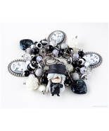 Undertaker Charm Bracelet, Kuroshitsuji, Anime Jewelry, Gothic Fashion, ... - $63.00