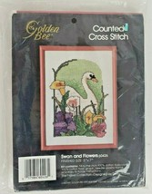 Golden Bee Swan & Flowers Counted Cross Stitch Kit 60426 - $9.99
