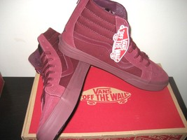 Mono Hi Royale Reissue Skate Zip Sk8 Size 13 Port Mens Vans Shoes Suede Canvas qawUx5Xq