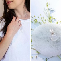 Kunzite Herkimer Necklace, Reiki Infused, Mothers Day, Gift, Pink, Heali... - $65.55