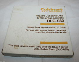 Cuisinart Food processors DLC-7 Accessory DLC-033 Julienne Disc Replacement - $27.29
