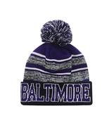 Baltimore Men's Blended Stripe Winter Knit Pom Beanie Hat (Purple/Black) - $13.75