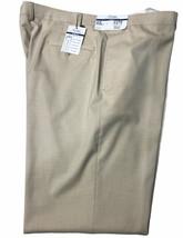 Polo Ralph Lauren Mens Dress Pants 42X32 Slim Fit Tan Flat Front Comfort... - $43.29