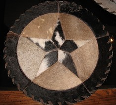 CUSTOM WESTERN COWHIDE TEXAS STAR PLACEMATS 12X... - $21.95