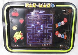 Pac-Man Vintage 1980's Metal Folding TV Lap Dinner Tray PACMAN - $14.84
