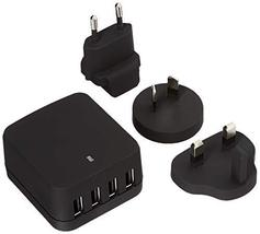 StarTech.com Travel USB Wall Charger - 4 Port - Black - Universal Travel... - $43.47