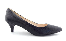 COLE HAAN Size 8 Black Textured Leather Low Heel Pumps Shoes - $54.00