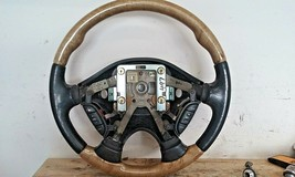 2000-03 Jaguar S-TYPE Steering Wheel Oem Wood Oak GRAIN/LEATHER - $64.35