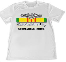US Navy Vietnam Veteran Submarine Force Wicking T-Shirt w Flag Car Coaster - $14.80