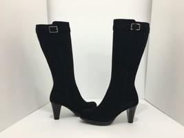 La Canadienne Mala Black Suede Women's Knee High Heel Waterproof Boots S... - $106.21
