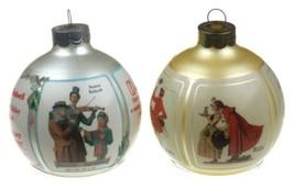 Hallmark Keepsake Ornaments Norman Rockwell Saturday Evening Post Lot 2 Glass - $10.39
