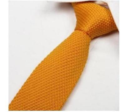 lavorata a maglia Tinta Unita Oro Giallo Cravatta da uomo Frederick Thomas ft275