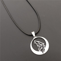 925 Sterling Silver Wolf Pendant Necklace Jewelry For Men or Women - $52.00