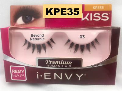 Primary image for I ENVY BY KISS EYELASHES BEYOND NATURALE 03- KPE35 100% HUMAN HAIR EYELASHES