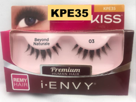 I ENVY BY KISS EYELASHES BEYOND NATURALE 03- KPE35 100% HUMAN HAIR EYELA... - $2.76