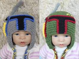Jango Fett Hat  Boba Fett Hat Knit Crochet Hat Baby Hat Child Hat Star W... - $9.99