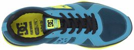 DC Shoes Uomo 'S Unilite Elastico Sportivo Blu Giallo Corsa Scarpe Sportive Nib image 6