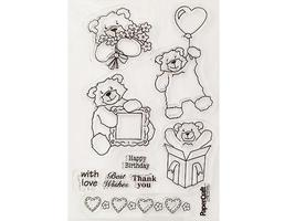 Bumble Bear Clear Stamps, Set of 9 image 2