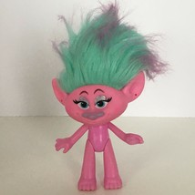 "Hasbro DWA Trolls Movie Troll Doll Satin 5.5"" Pink Blue & Purple Hair To... - $7.20"