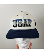 US Air Force USAF Falcons Hat Cap White Black Gear For Sports Vintage NWT - $16.79