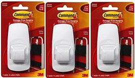 Command Jumbo Plastic Hook with Adhesive Strips, 3-Hooks image 4