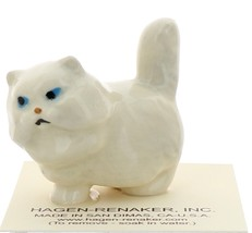 Hagen-Renaker Miniature Ceramic Cat Figurine Fat White Persian