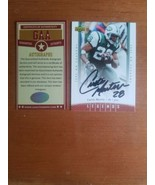 CURTIS MARTIN Hand-Signed Autograph 2006 Upper Deck Legends #28 NEW YORK... - $17.33