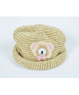 CAPPELLI STRAWORLD GIRLS NATURAL STRAW WORLD TEDDY BEAR HAT - $8.90