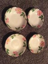 Set Of 4 Franciscan Earthenware Dessert Rose Dessert Or Salad Plates 5 1... - $34.64