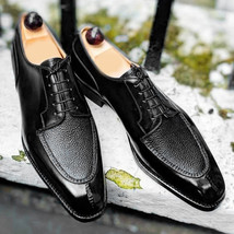 Men's Ankle Lace Up Leather Shoes, Handmade Black Formal Shoes  - $139.00 - $179.97