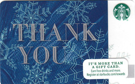 Starbucks 2015 Winter Thank You Collectible Gift Card New No Value - $2.99